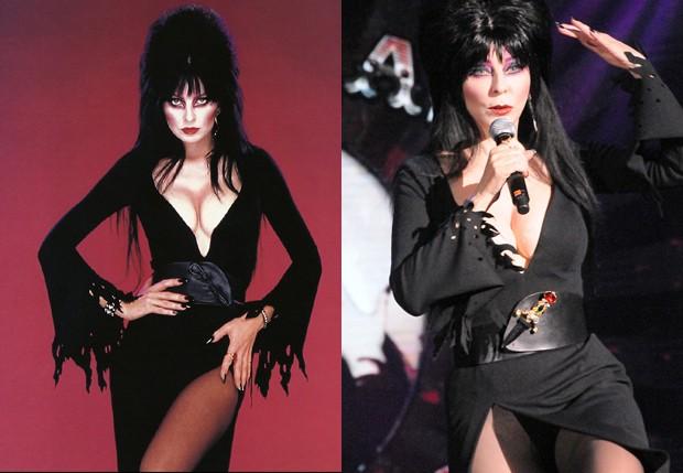 Cassandra peterson em 1988 e em setembro de 2014 (Foto: Reprodução e Getty Images)