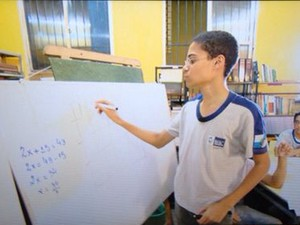 Daniel genio da matematica (Foto: rede globo)