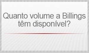 Billings - Quanto volume a Billings têm disponível? (Foto: Arte/G1)