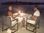 Thor Batista faz programa romântico com namorada nas Ilhas Maldivas