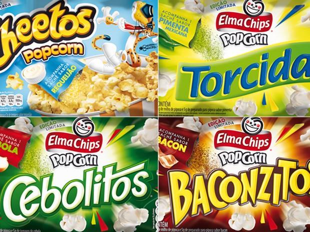 Quatro novos sabores (Foto: Divulgação/Elma Chips)