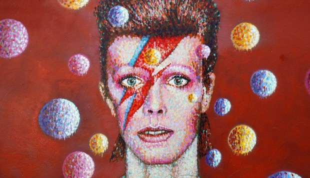 Pintura de David Bowie (Foto: Getty Images)