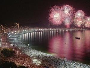 Vista do Hotel Sofitel para a queima de fogos de Copacabana (Foto: Divulgação/Sofitel Rio de Janeiro)