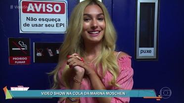 Confira o diário de gravação de Marina Moschen