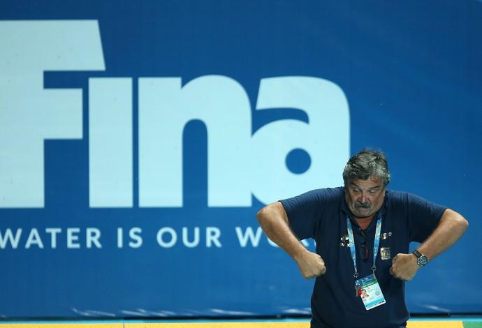 Ratko Rudic, técnico da seleção masculina de polo aquático (Foto: Satiro Sodre/SSPress)