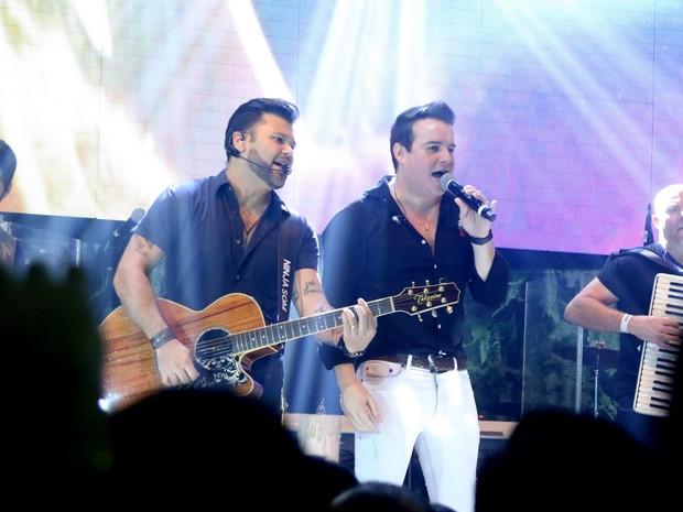 Marcos e Belutti se apresentam em São Paulo (Foto: Thiago Duran/ Ag. News)