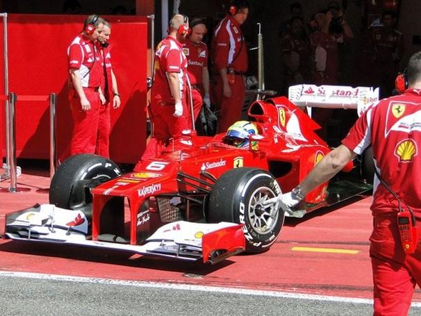 Ferrari prepara poucas novidades para a corrida (Foto: Rafael Lopes / TV Globo / Reprodução: Globoesporte.com)
