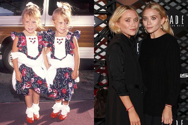 As gêmeas Olsen nos anos 90 e atulmente (Foto: Divulgação)