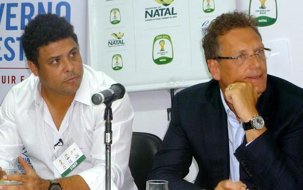 ronaldo jerome valcke  FIfa Natal (Foto: Marcelo Baltar / Globoesporte.com)