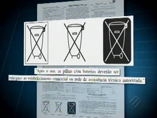 Produtos agora terão símbolos para indicar que como devem ser descartados (Foto: Reprodução/TV Liberal)