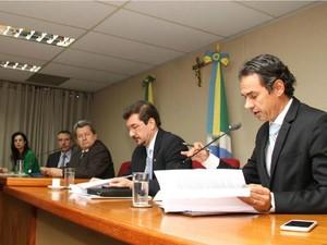 Primeira reunião da CPI do Cimi em MS (Foto: Wagner Guimarães/Assembleia Legislativa de MS)