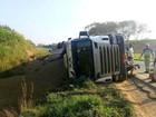 Piracicaba e Charqueada têm três tombamentos de caminhões em 4h