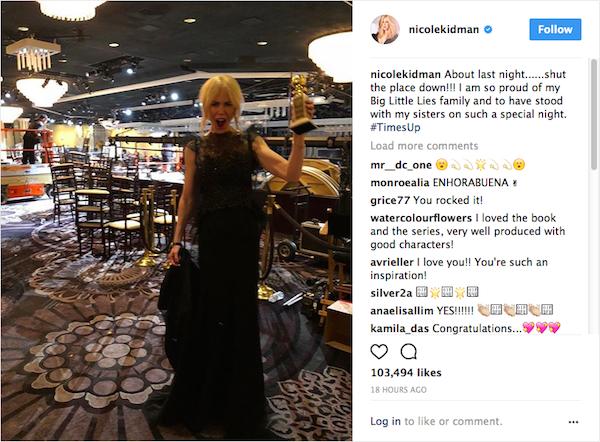 A primeira foto compartilhada por Nicole Kidman em sua conta no Instagram (Foto: Instagram)