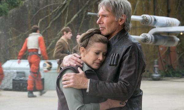 Carrie Fisher e Harrison Ford em cena de 'O Despertar da Força' (2015) (Foto: Reprodução)