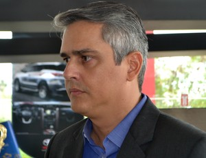 Beto Santos, presidente do América-RN (Foto: Jocaff Souza/GloboEsporte.com)