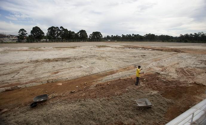 Novo centro de treinamento da base do Corinthians já está em obras (Foto: Daniel Augusto Jr / Agência Corinthians)