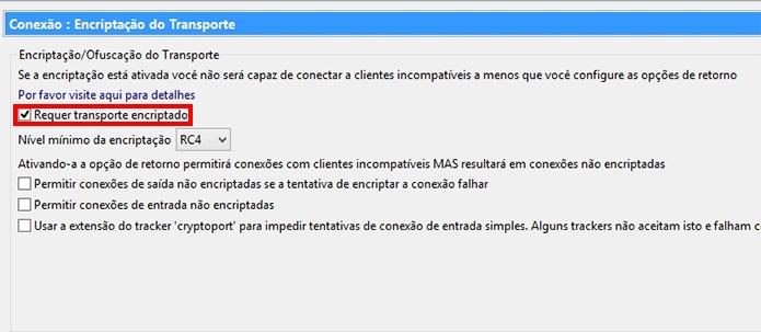 Habilite a criptografia do tráfego P2P (Foto: Reprodução/Paulo Alves)