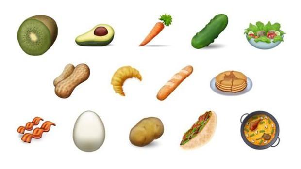 Os novos emojis de comida prometem atender a todos os gostos (Foto: Divulgação/Emojipedia)