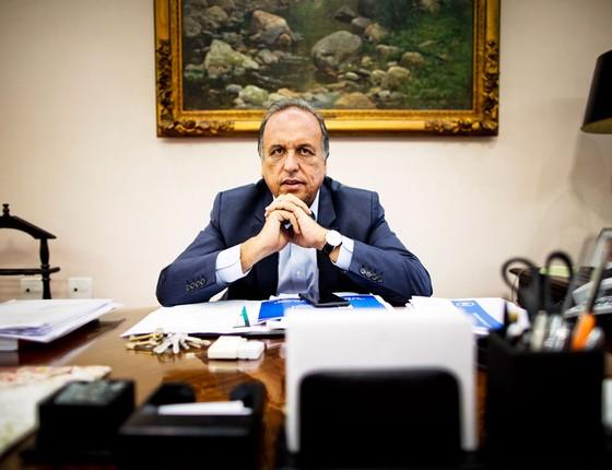 Luiz Fernando Pezão governador do Rio de Janeiro (Foto: Guito Moreto / Agência O Globo)