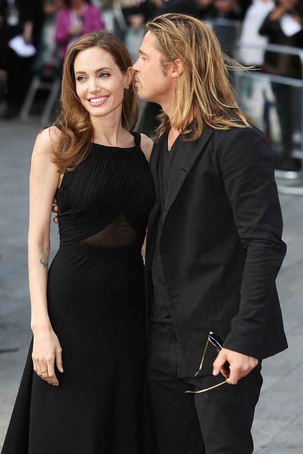 Angelina Jolie e Brad Pitt (Foto: Reprodução Getty Images)