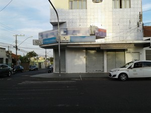 Lotérica onde aconteceu homicídio em Uberlândia (Foto: Rafael Leonel/G1)