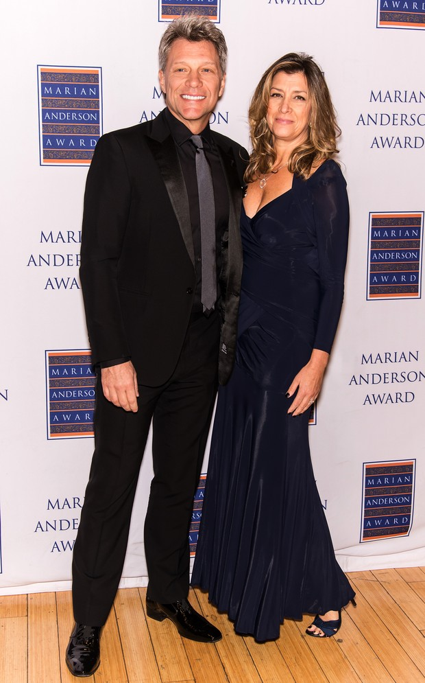 Jon Bon Jovi e a mulher, Dorothea Hurley, em evento na Filadélfia, nos Estados Unidos (Foto: Gilbert Carrasquillo/ Getty Images)