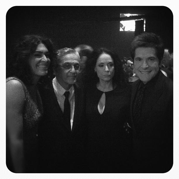 Daniel Caetano Veloso Sônia Braga Paula Lavigne (Foto: Reprodução/Instagram)