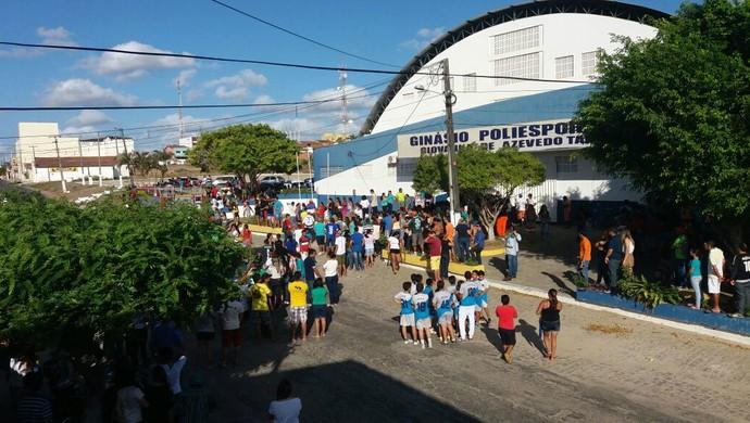 RN - velório Gil Chapecoense Nova Cruz (Foto: Fred Carvalho/GloboEsporte.com)