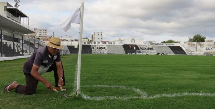 Reforma, Presidente Vargas, Treze, gramado (Foto: Divulgação / Treze)