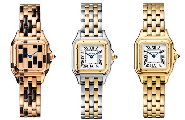 """Modelos do relógio """"Panthère"""", relançados pela Cartier (Foto: Divulgação)"""