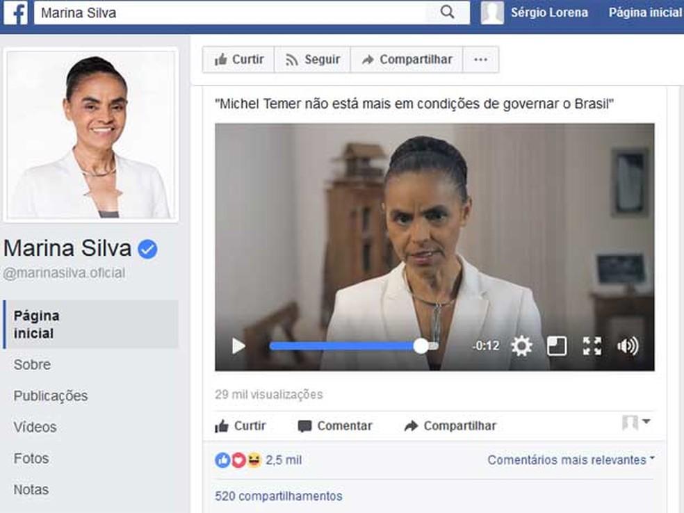 Marina Silva, ex-senadora (Foto: Reprodução / Facebook / Marina Silva)