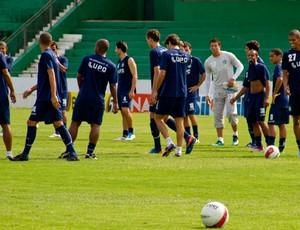 Guarani treina para a final do Campeonato Paulista (Foto: Rodrigo Gianesi / Globoesporte.com)