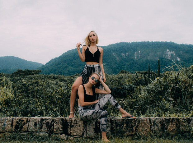 Ana Hikari e Isabella Scherer (Foto: Isabella Pauline/Divulgação )