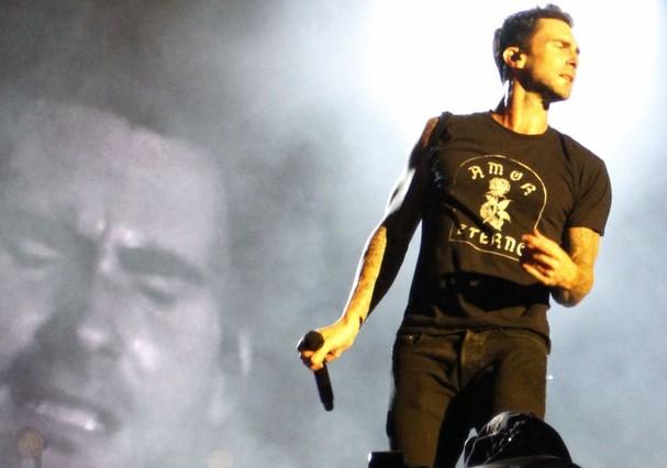 """Adam Levine canta """"Garota de Ipanema"""" (Foto: Lucas Teixeira)"""