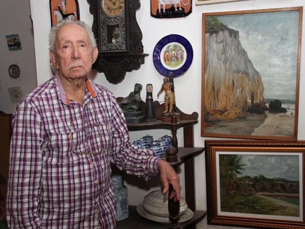 Nascido em Caiçara, Brejo da Paraíba, no ano da Semana de Arte Moderna, o artista se mudou para João Pessoa  no começo dos anos 1930 (Foto: Francisco França/Jornal da Paraíba)