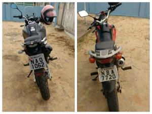 Adolescente de 15 anos estava em uma moto e um homem em outra (Foto: Divulgação/Polícia Militar)