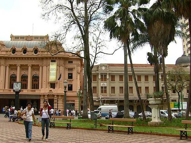Recuperação da Praça XV de Novembro inclui reformulação dos jardins (Foto: Reprodução/EPTV)