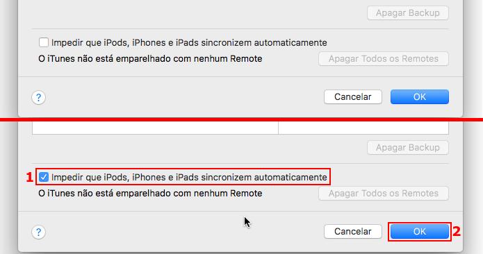 Configurando o iTunes para não sincronizar automaticamente (Foto: Reprodução/Edivaldo Brito)