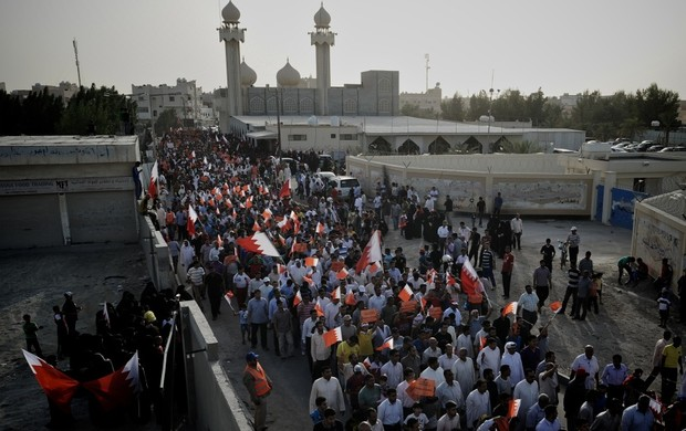 Protestos no Bahrein (Foto: AFP)