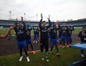 torcida grêmio treino gre-nal pátio jogadores (Foto: Lucas Uebel/Grêmio FBPA)