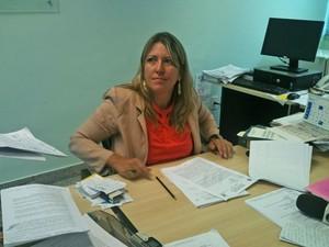 A delegada Mônica Ferreira durante entrevista nesta quinta-feira (28), em Brasília (Foto: Raquel Morais/G1)