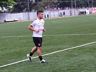 Jean Chera primeiro treino no Santos (Foto: Cássio Lyra)
