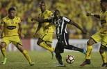 """Botafogo perde caminhão  de gols, mas """"Sassarrada""""  garante empate no Equador (AP Photo/Dolores Ochoa)"""
