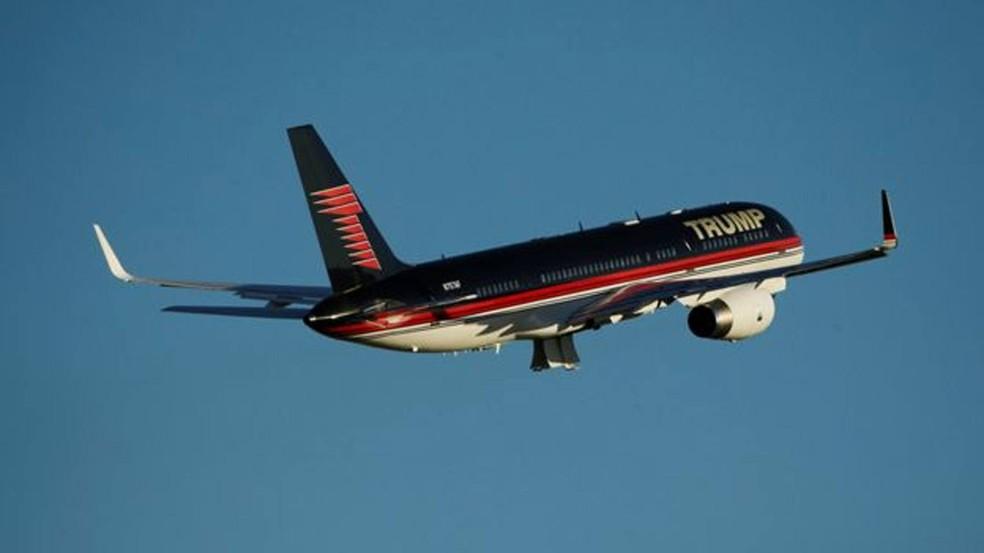Trump viajou em sua própria companhia aérea durante campanha presidencial  (Foto: Reuters)