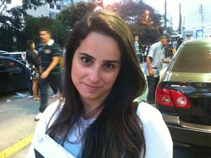 Luciana Nunes, 24 anos, fez o exame da OAB neste domingo (28) em SP (Foto: Rodrigo Ortega/G1)