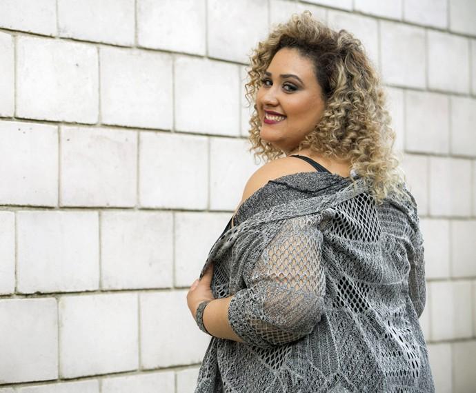 Ana Cigarra trabalha como modelo plus size (Foto: Raphael Dias/Gshow)
