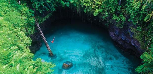 Sua Ocean Trench, em Samoa (Foto: Reprodução)