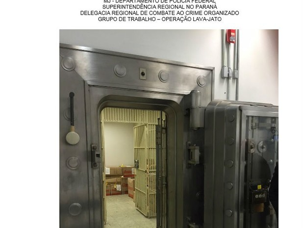 Porta do cofre da agência do Banco do Brasil em São Paulo (Foto: Reprodução)