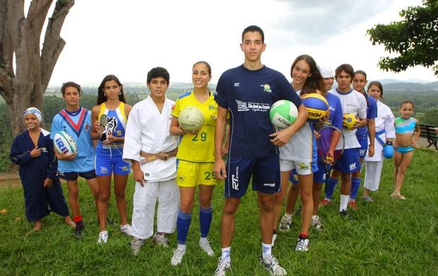 Jovens do programa Atleta Cidadão, de São José dos Campos (Foto: Ronny Santos / PMSJC)