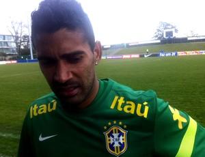 Marcos brasil completou o treino (Foto: Leandro Canônico)